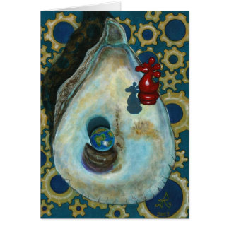 Cartão Cavaleiro da ostra