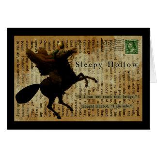 Cartão Cavaleiro decapitado oco sonolento 1