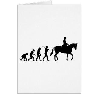 Cartão Cavaleiro do cavalo