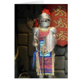 Cartão Cavaleiro na armadura de brilho