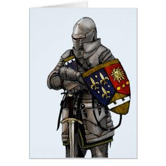 Cartão Cavaleiro na armadura Shinning