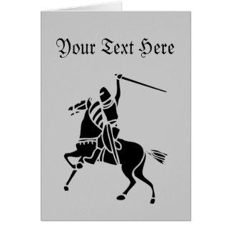 Cartão Cavaleiro na silhueta do cavalo