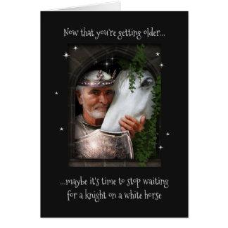 Cartão Cavaleiro no cavalo branco (não somente para