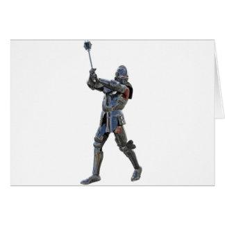 Cartão Cavaleiro que anda à direita com mace