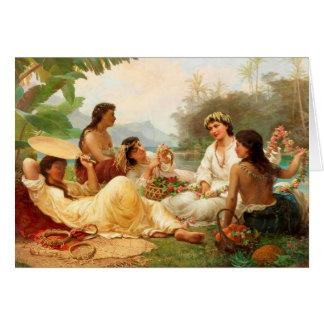"""Cartão """"Cavaleiros do Clime ensolarado, Tahiti"""" -"""