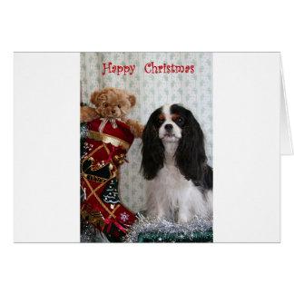 Cartão Cavalier Tricolour do Natal