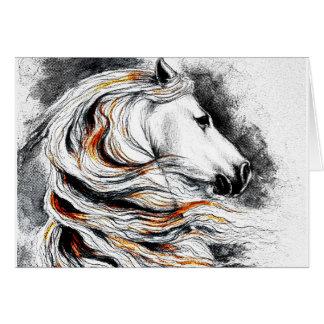 Cartão Cavalo andaluz cómico