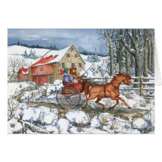 Cartão Cavalo & carruagem