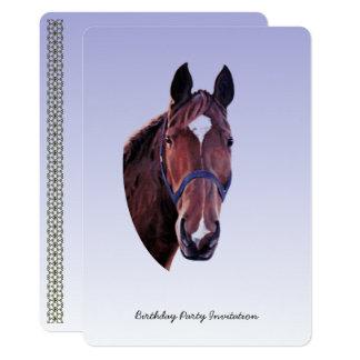 Cartão Cavalo da castanha (adicione detalhes do partido)