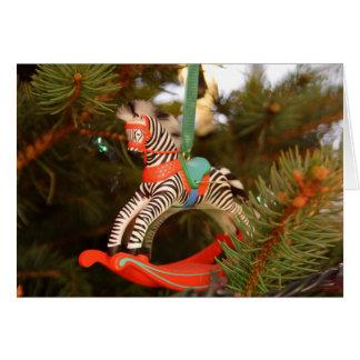Cartão Cavalo de balanço da zebra