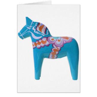 Cartão Cavalo de Dala dos azul-céu