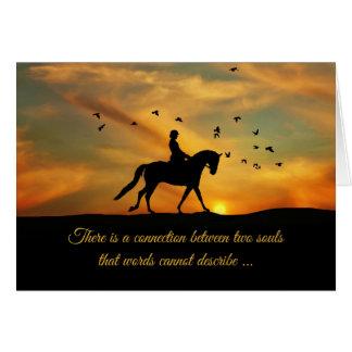 Cartão Cavalo do adestramento e perda da simpatia do