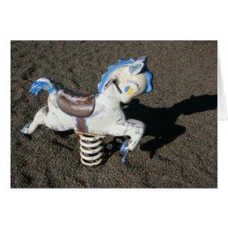 Cartão Cavalo do campo de jogos