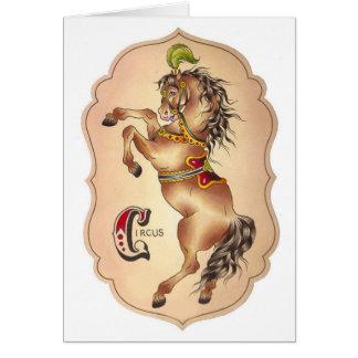 Cartão Cavalo do circo