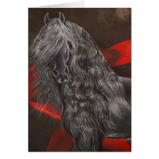 Cartão Cavalo do frisão