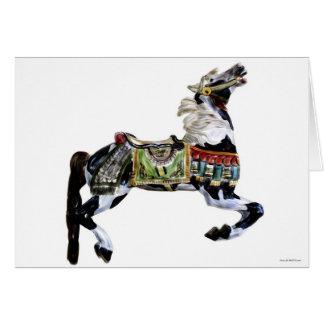 Cartão Cavalo do passatempo do carrossel