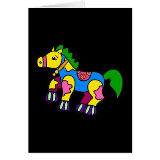 Cartão Cavalo dos retalhos