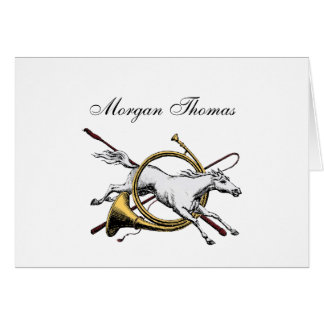 Cartão Cavalo equestre formal que salta com a cor do