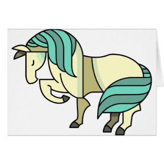 Cartão Cavalo estilizado dos desenhos animados
