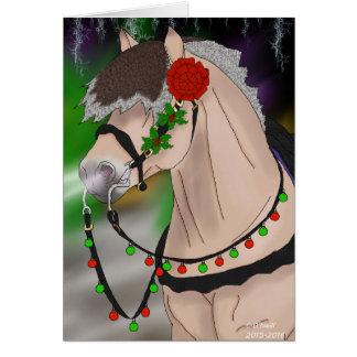Cartão Cavalo norueguês do fiorde do Natal