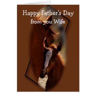 Cartão Cavalo-Pais Dia-da esposa-mudança a algum occaion
