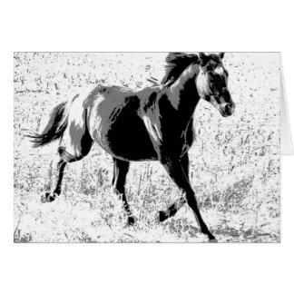 Cartão Cavalo preto