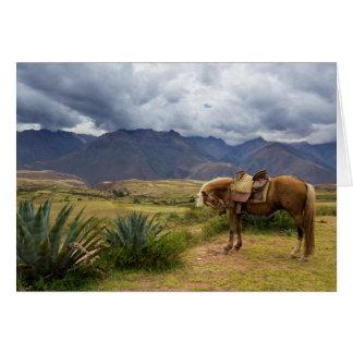 Cartão Cavalo sagrado verdejante do vale