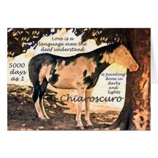 Cartão Cavalo surdo Chiaro do Pinto