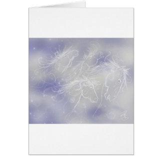 Cartão Cavalos da nuvem