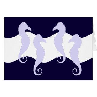 Cartão Cavalos de mar 2