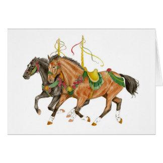 Cartão Cavalos do carrossel