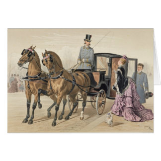 Cartão Cavalos ingleses