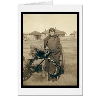 Cartão Cavalos SD 1891 da abundância de Ota Tasunka do