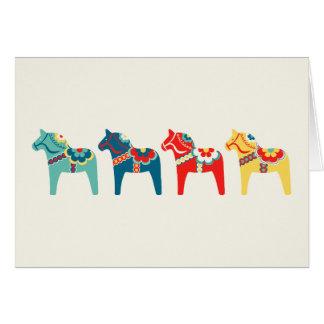 Cartão Cavalos suecos