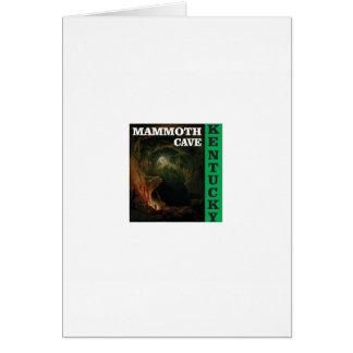 Cartão Caverna gigantesca verde Kentucky