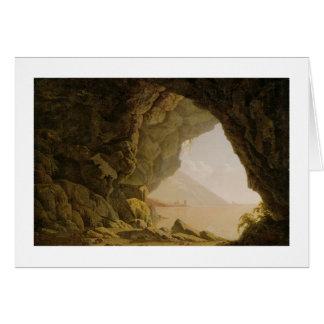 Cartão Caverna, perto de Nápoles, 1774 (óleo em canvas)