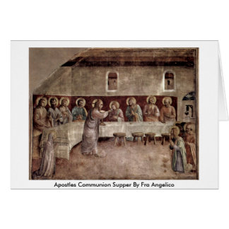 Cartão Ceia do comunhão dos apóstolos por Fra Angelico