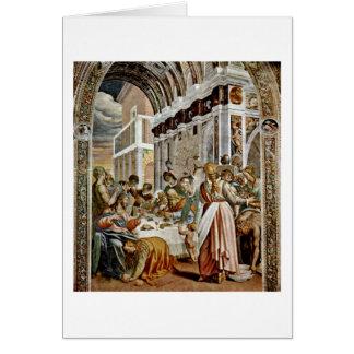 Cartão Ceia na casa do Pharisee por Antonio Campi