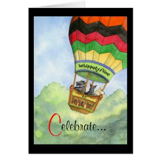 Cartão Celebração ballooning do Scottie
