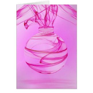 Cartão Celebração cor-de-rosa 3 da fita