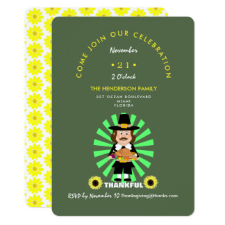 Cartão Celebração da acção de graças do comensal de