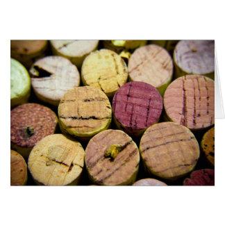 Cartão Celebração da cortiça do vinho