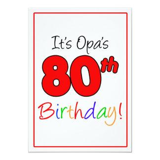Cartão Celebração da festa de aniversário do marco