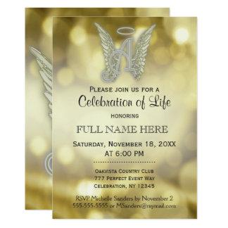 Cartão Celebração da vida - ouro Bokeh
