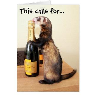 Cartão Celebração de Ferrety