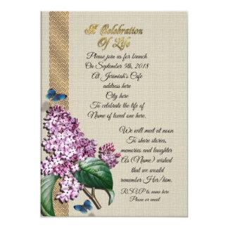 Cartão Celebração de Lilacs da vida