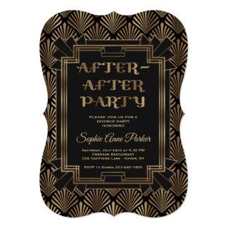 Cartão Celebração do divórcio de Gatsby dos anos 20 Glam