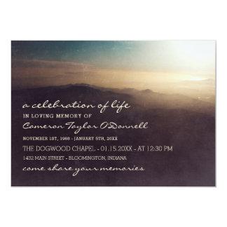 Cartão Celebração do nascer do sol | da montanha da vida