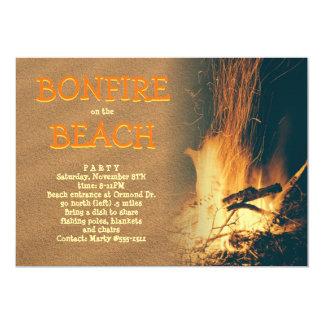 Cartão Celebração do partido da fogueira da praia