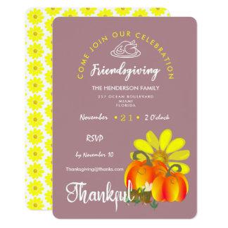 Cartão Celebração grata de Friendsgiving rústica